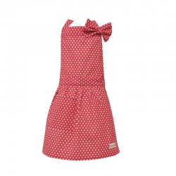 Kids Apron Polka dot red