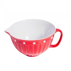 Red Bater bowl with handle...