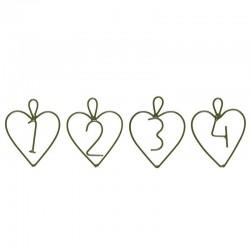 Adventi medál, 1-4 szív alakban