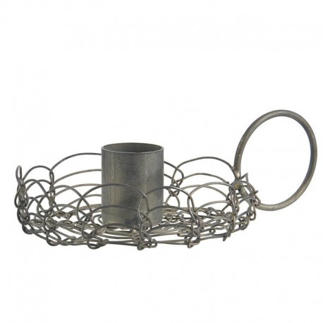 Candle holder f/dinner candle filigran