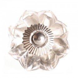 Glass knob flower