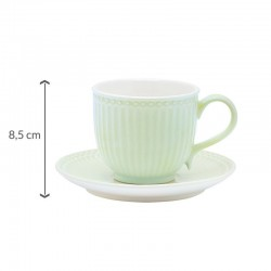 Cup & saucer Alice pale green