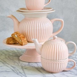 Cake Plate Alice pale pink