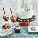 Cake Plate Alice Red