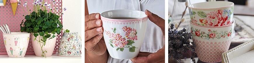 Porcelán latte bögre - Skandi Trend