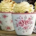 Porcelán latte bögre