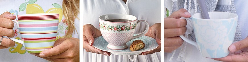 Porcelán teásbögrék - Skandi Trend