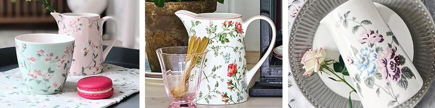 Romantikus porcelán kancsó - Skandi Trend