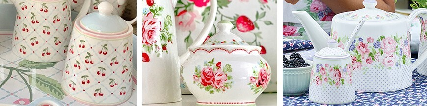 Porcelán cukortartó - Skandi Trend